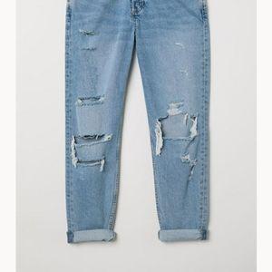 boyfriend low ripped jeans - &denim